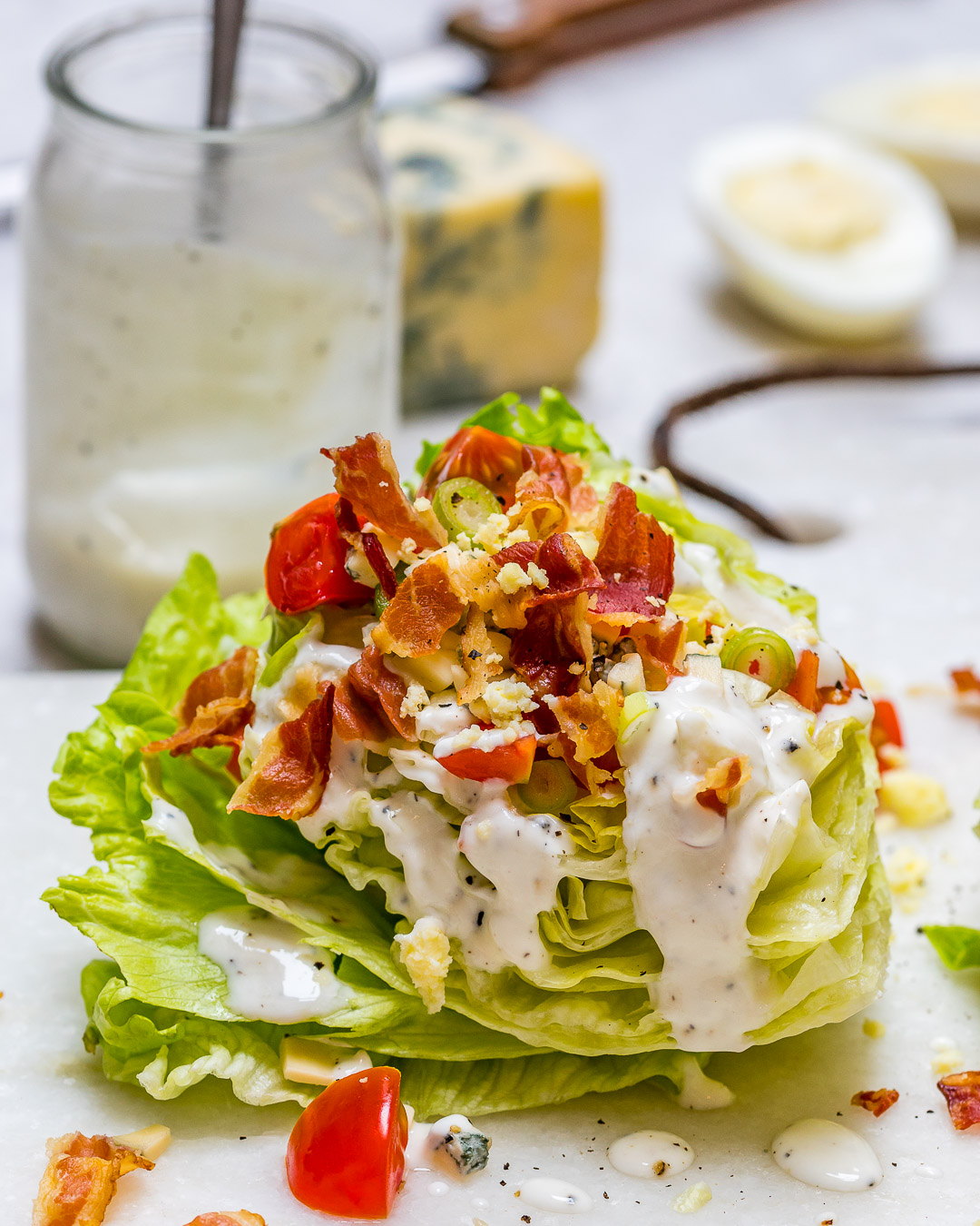 Loaded Iceberg Wedge Clean Eating Salad