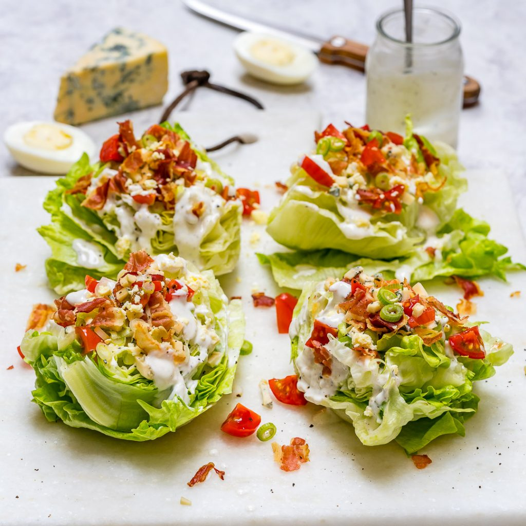 Loaded Iceberg Wedge Salad Clean Eating Recipe