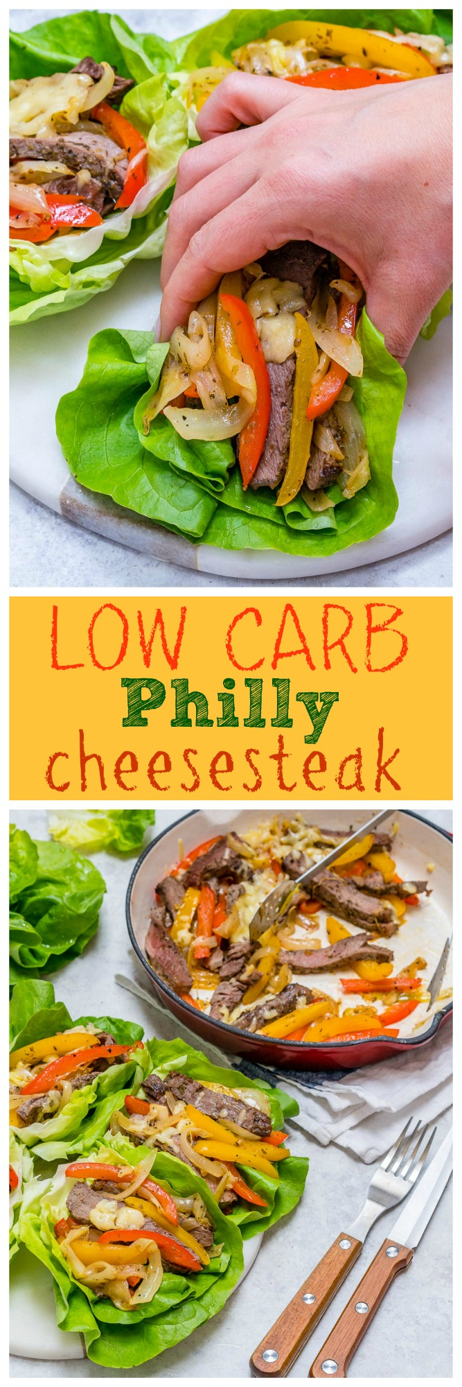 Healthy Low Carb Philly Cheesesteaks