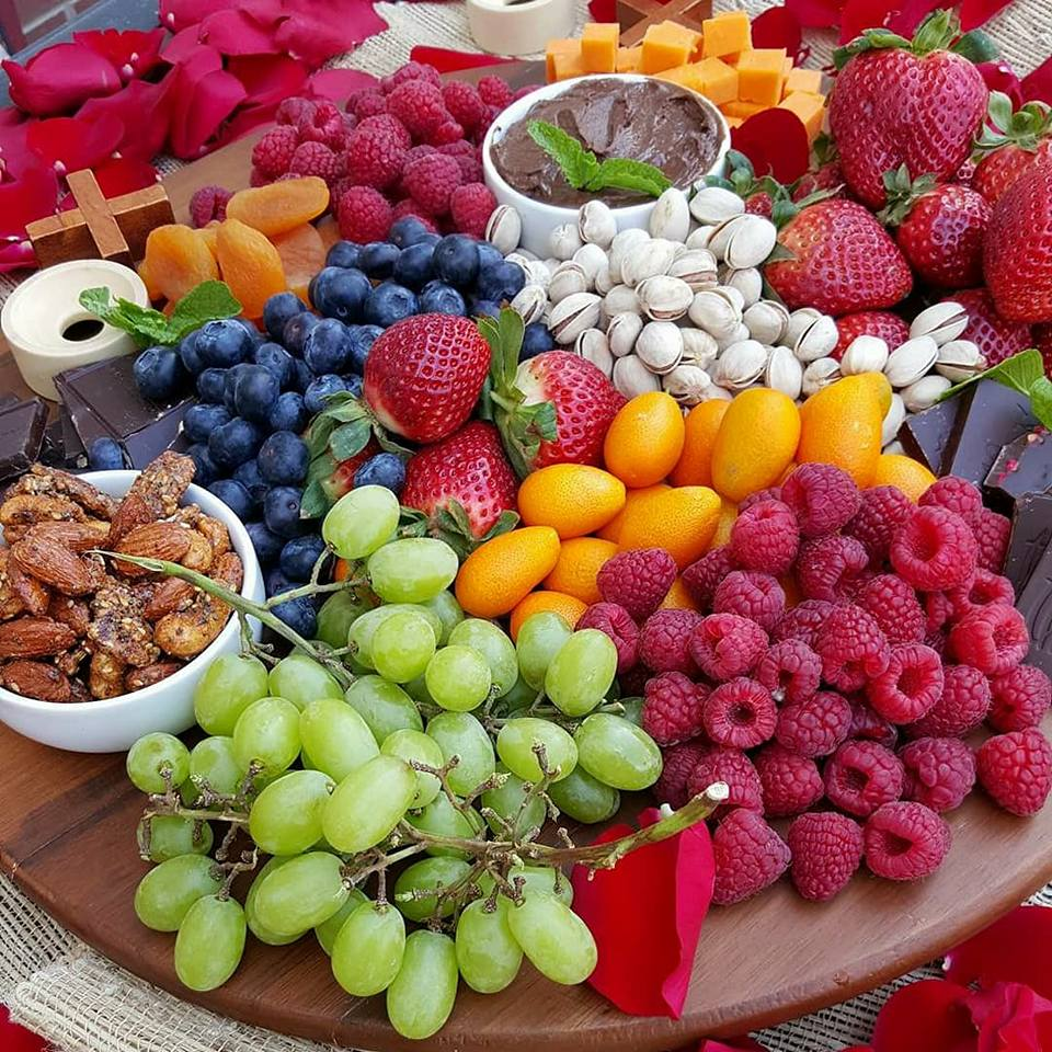 Clean Eating Fruit and Cheese Platter