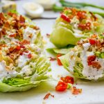 Eat Clean Loaded Iceberg Wedge Salad + Skinny Blue Cheese Dressing