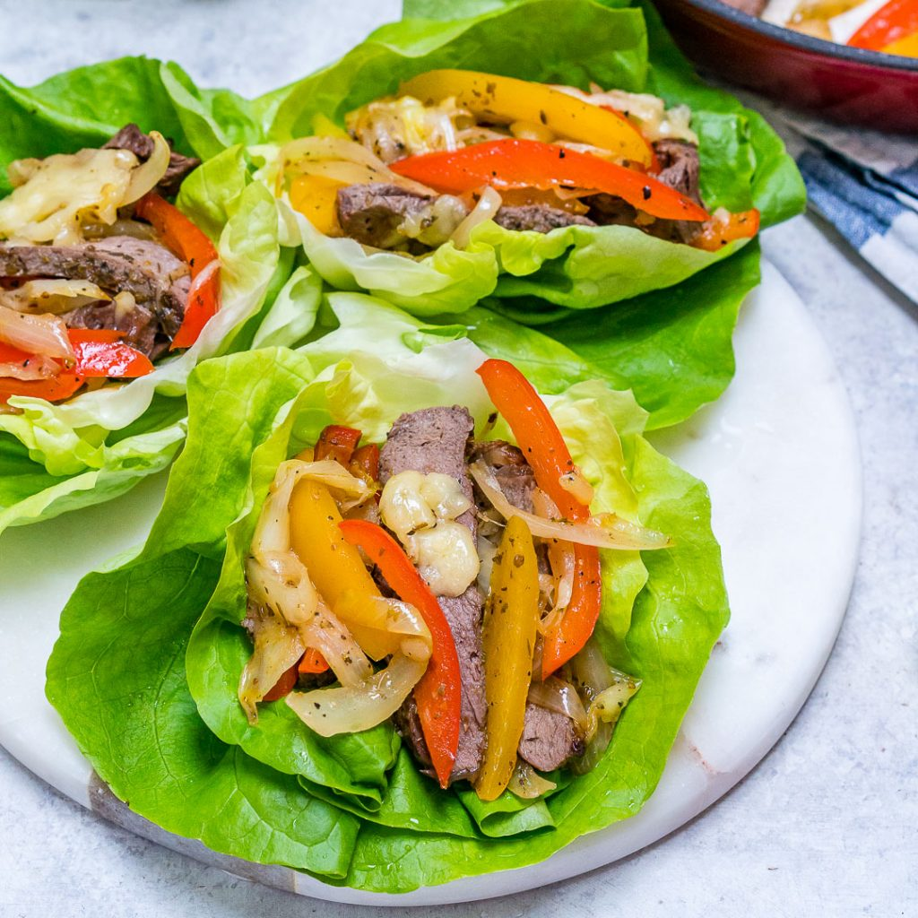 Eat Clean Low Carb Philly Cheesesteaks