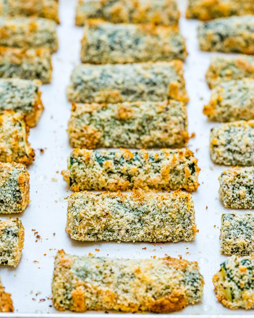 Oven Fried Zucchini Fingers Snacks