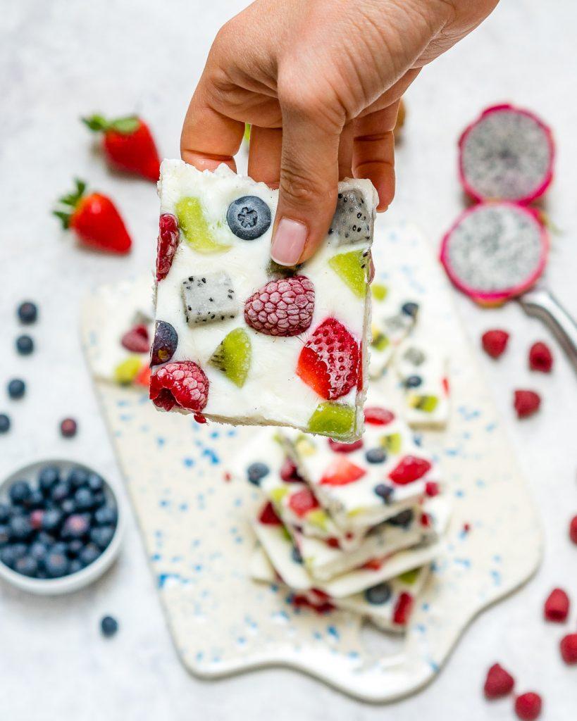 Fro-YO Fruit Bark Clean Recipe