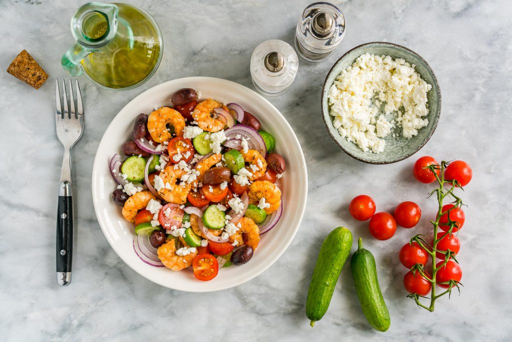 Clean Greek Shrimp Salad
