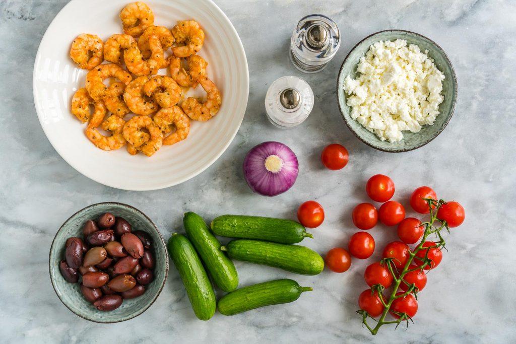 Greek Shrimp Salad Ingredients