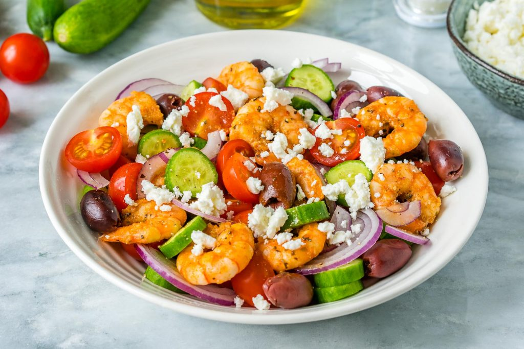 Healthy Greek Shrimp Salad