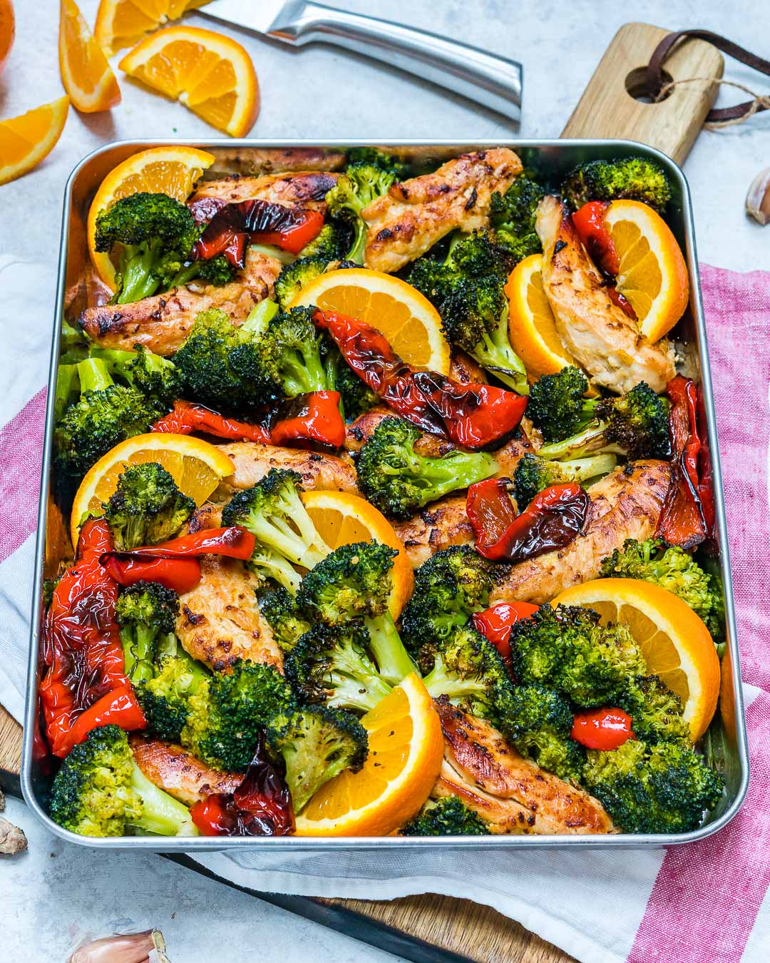 Sheet Pan Orange Ginger Chicken Recipe