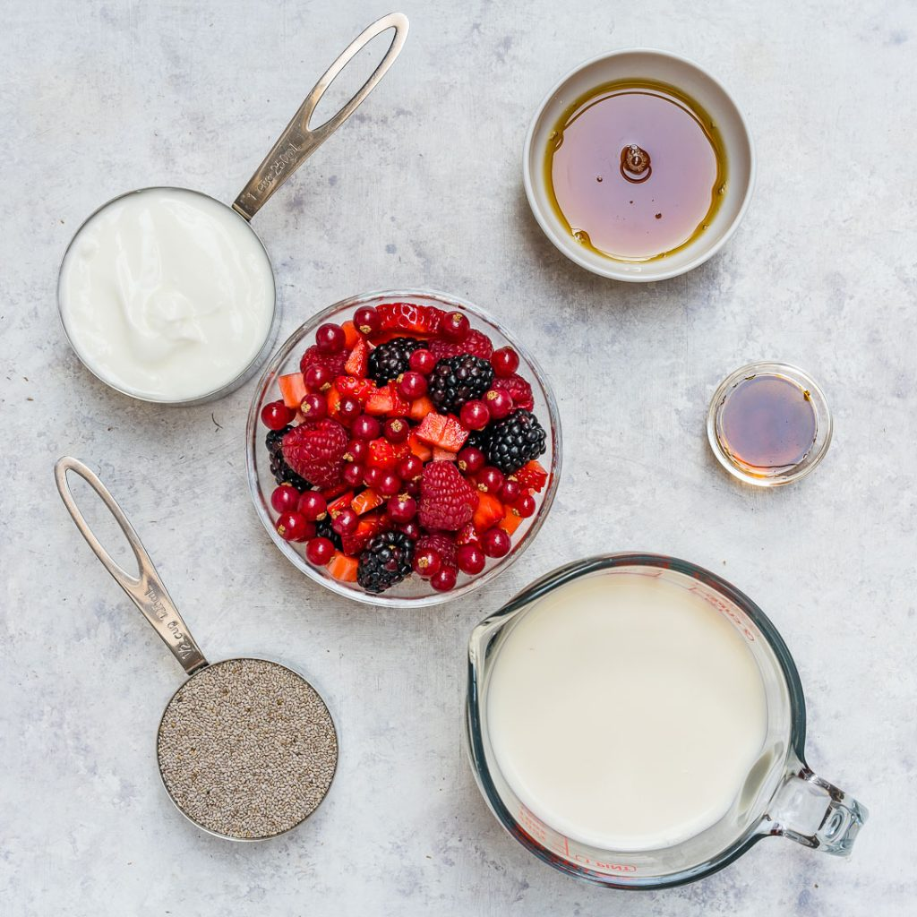 Chia pudding Super Berry Prep