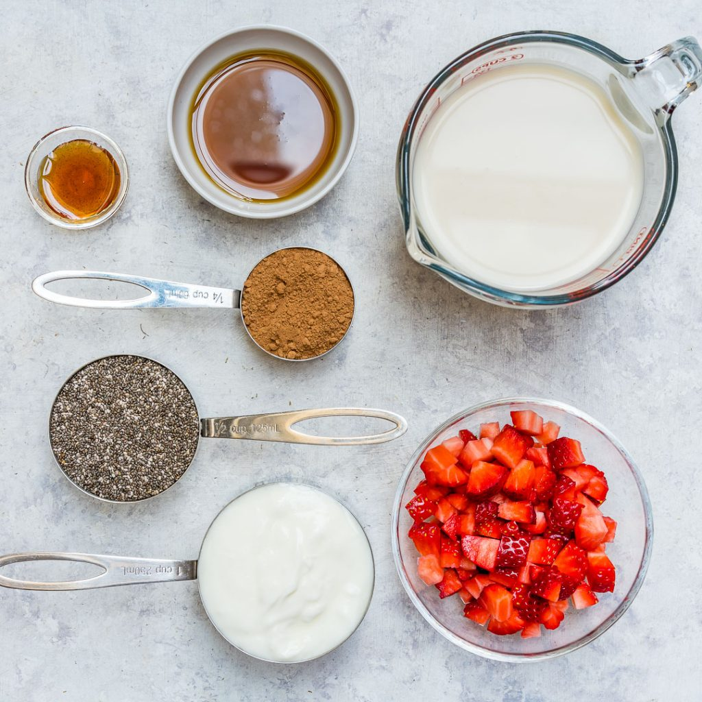 Chocolate Strawberry Chia Pudding Recipes
