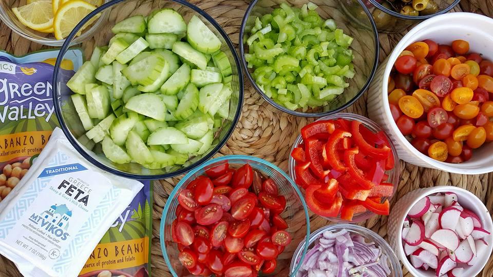 Clean Eating Chopped Salad Ingredients