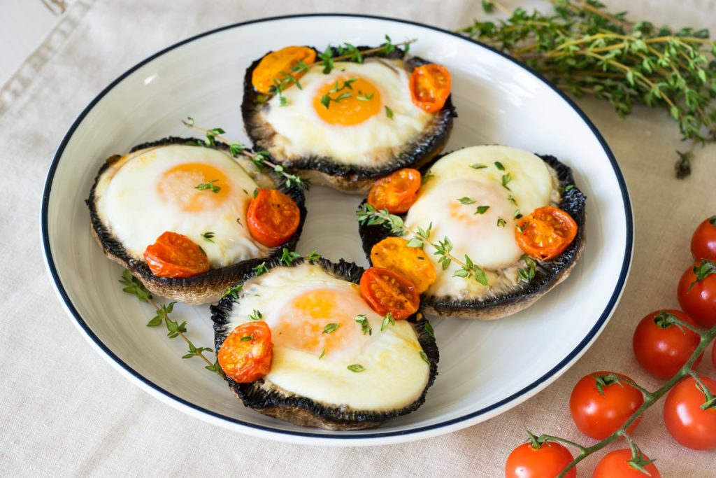 Clean Eating Portobello Baked Eggs