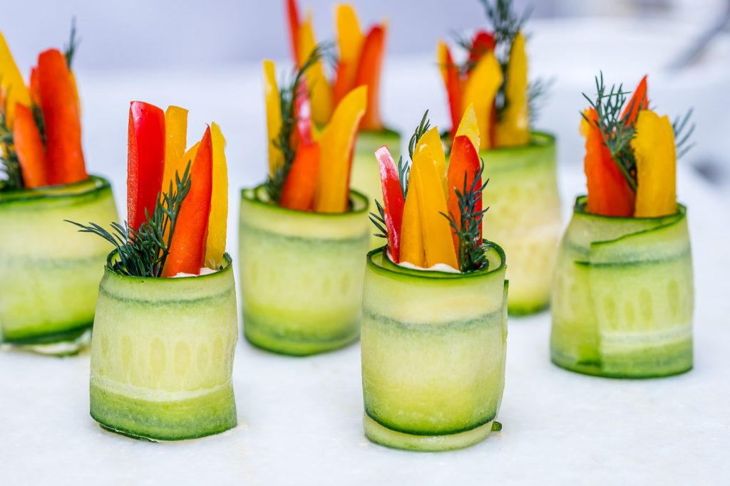 Clean Hummus Cucumber Roll Ups