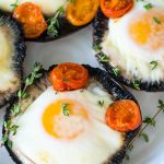 Clean Portobello Baked Eggs
