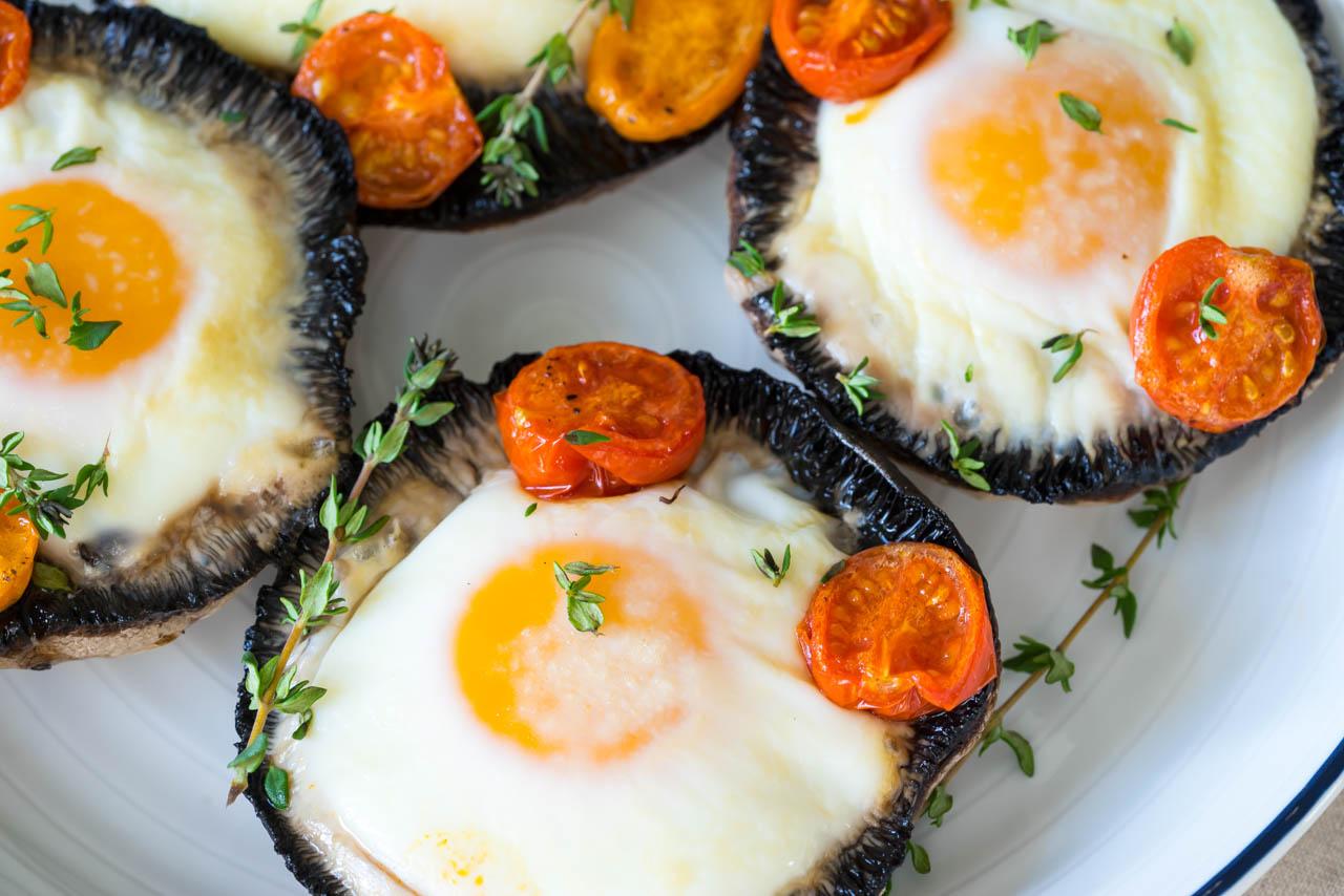 Clean Portobello Baked Eggs