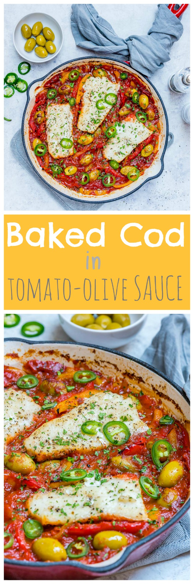 CleanFoodCrush Baked Cod Tomatoes Olives