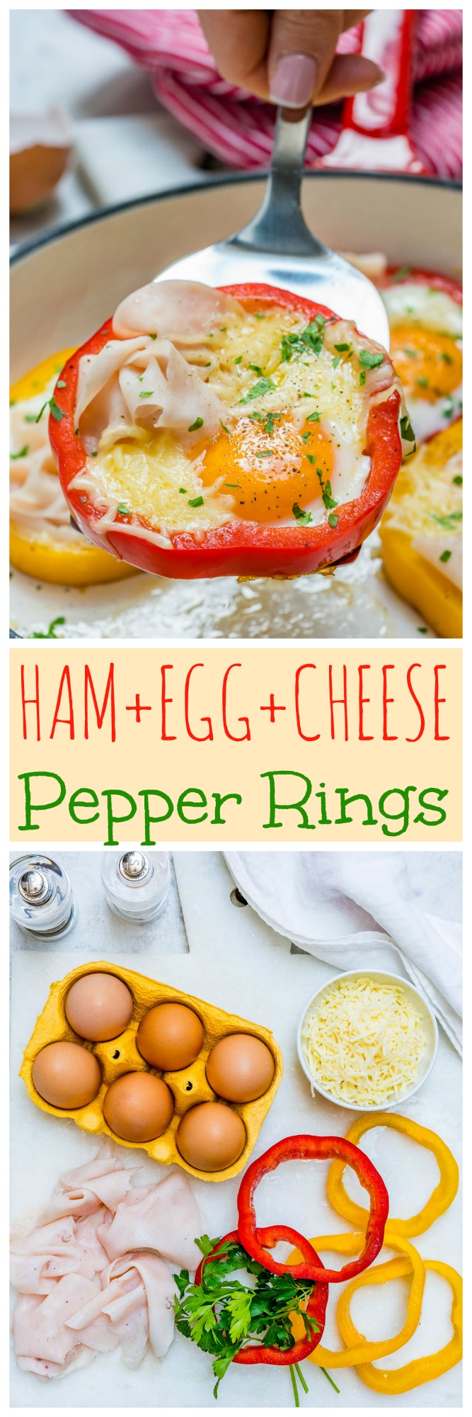 Clean Breakfast Ham Egg Pepper Rings