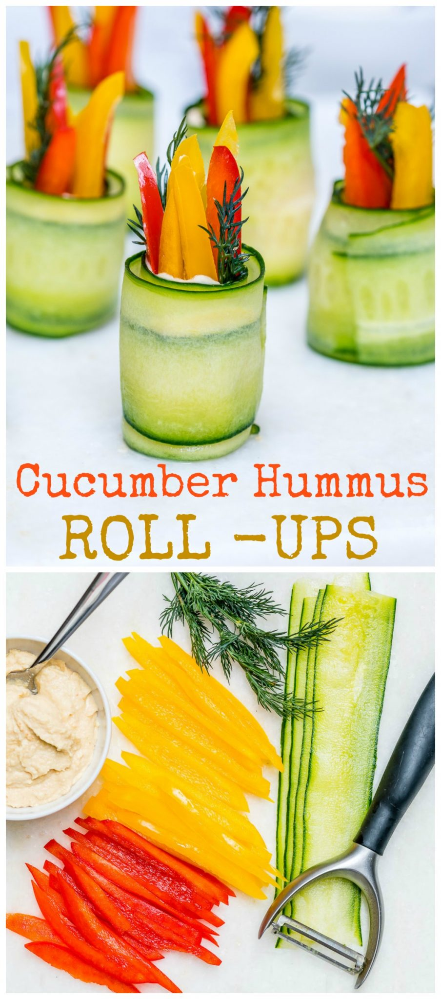 Hummus Cucumber Roll-Ups Clean Snacks