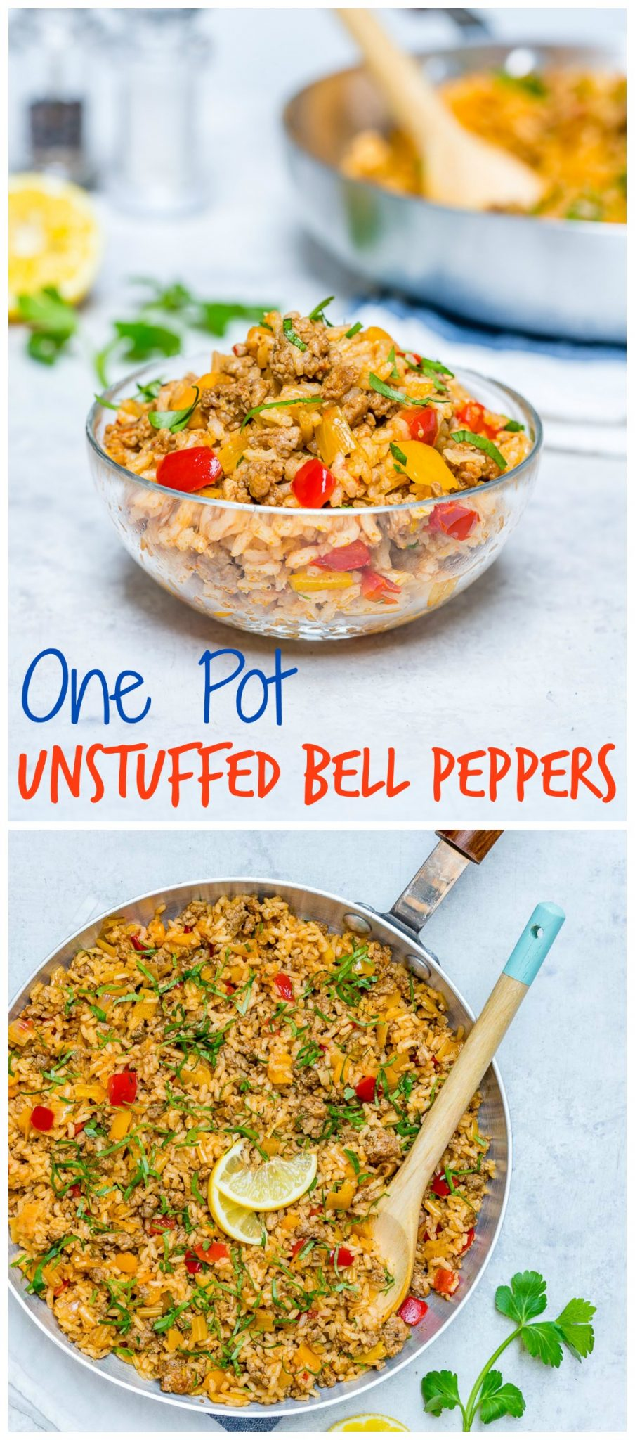 CleanFoodCrush One Pan Unstuffed Bell Peppers