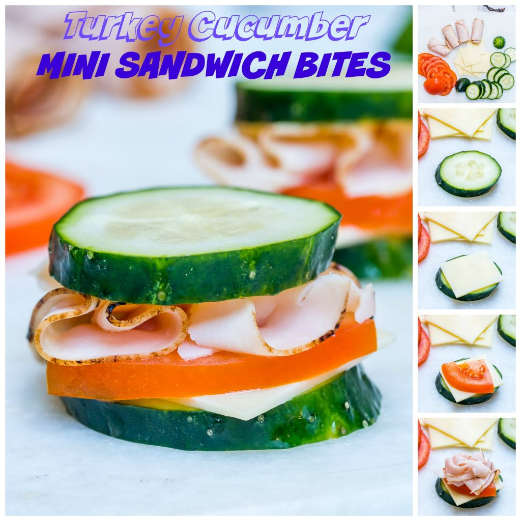Turkey Cucumber Mini Sandwich Clean Snacks