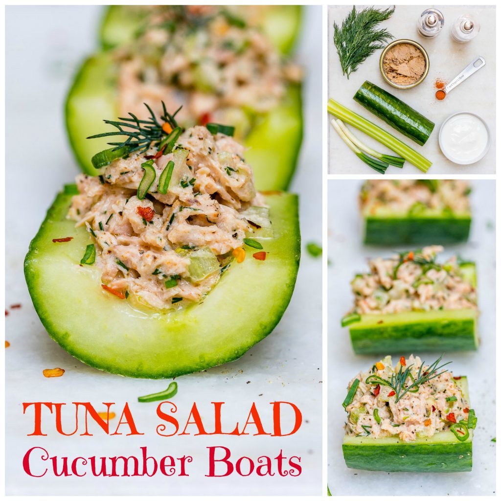 Wild Tuna Cucumber Boats Healthy Snacks