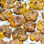 Eat Clean Crispy Smashed Herb Roasted Potatoes