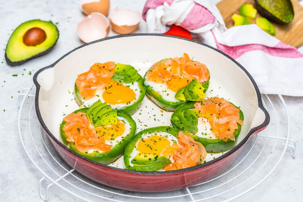 Eat Clean Eggs + Smoked Salmon in Green Rings