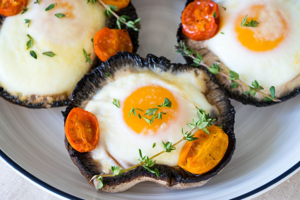 Eat Clean Portobello Baked Eggs
