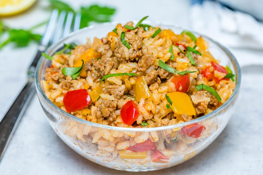 One Pan Unstuffed Bell Peppers Eat Clean Recipes