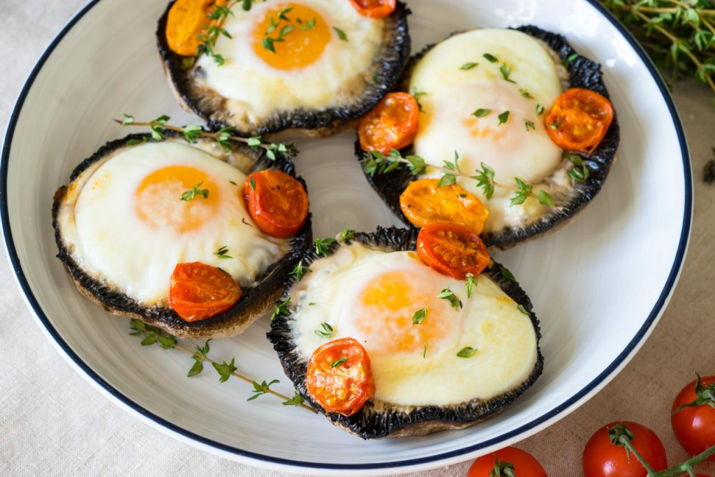 Creative Portobello Baked Eggs