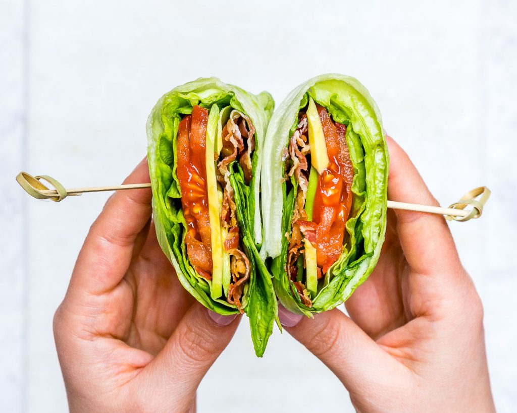 Skinny BLT Avocado Wraps CleanFoodCrush