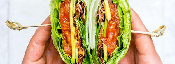 Skinny BLT Avocado Wraps CleanFoodCrush