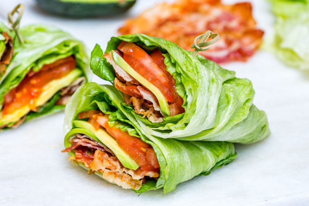 Skinny BLT Avocado Wraps Clean Eating Recipe