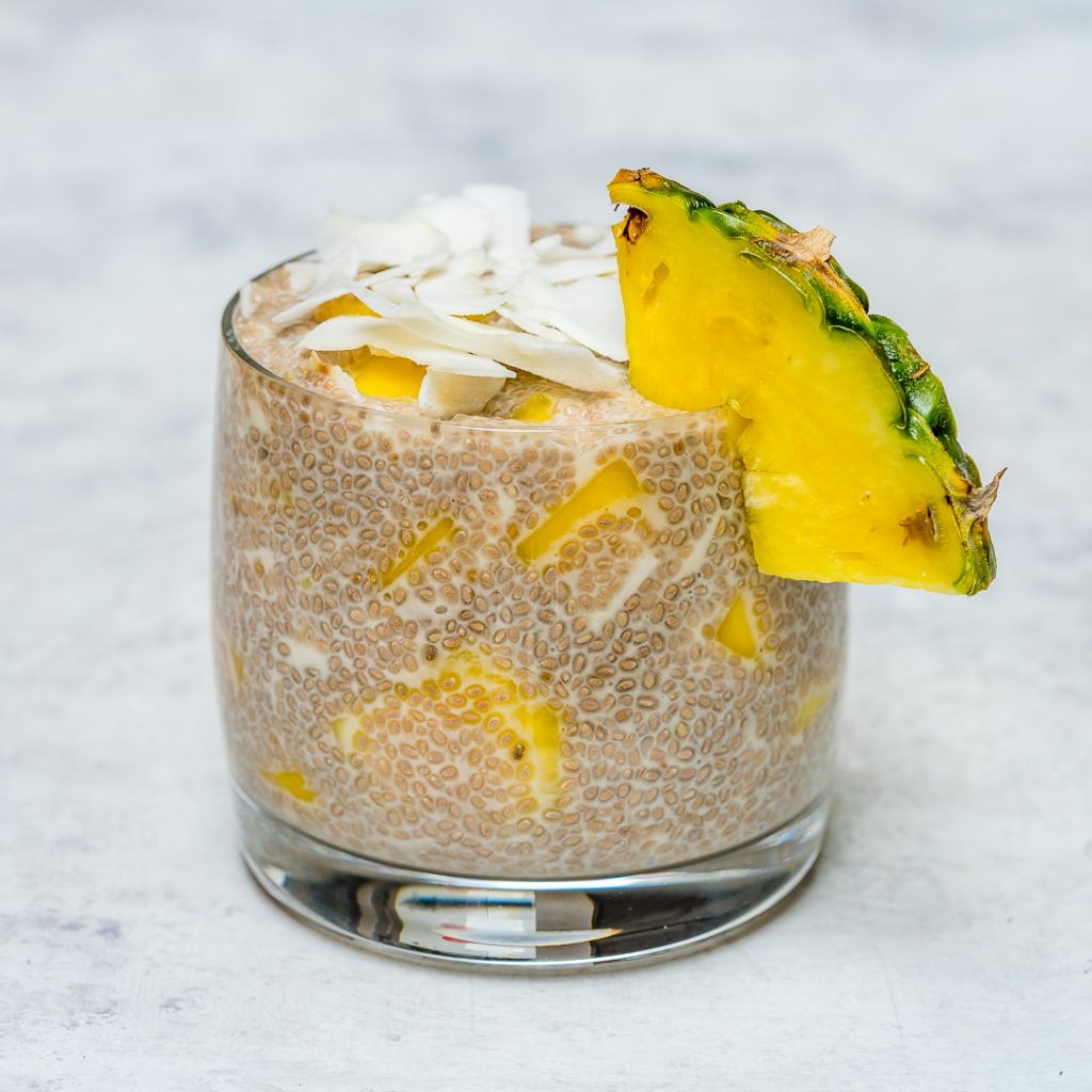 Tropical Chia Pudding Clean Eating Breakfast