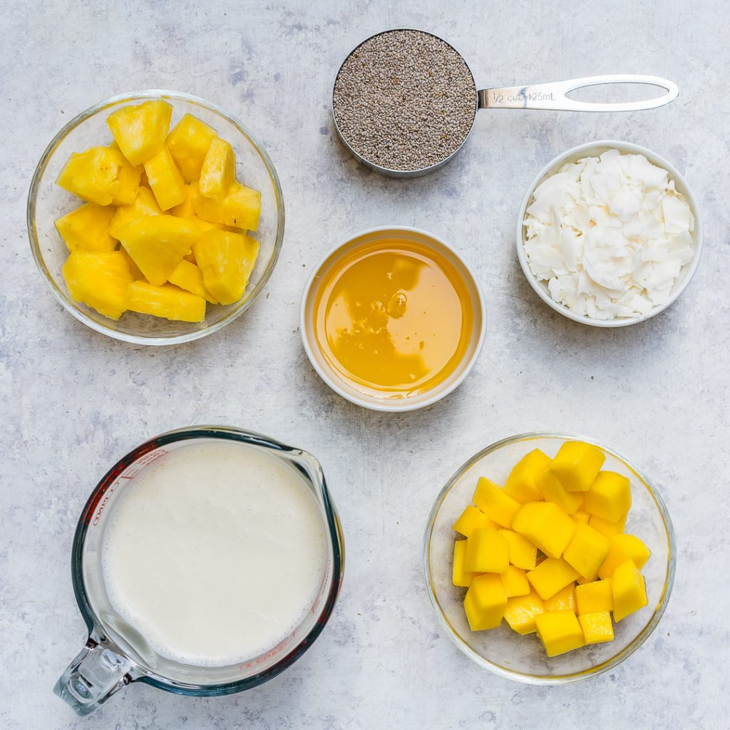 Tropical Chia Pudding Prep