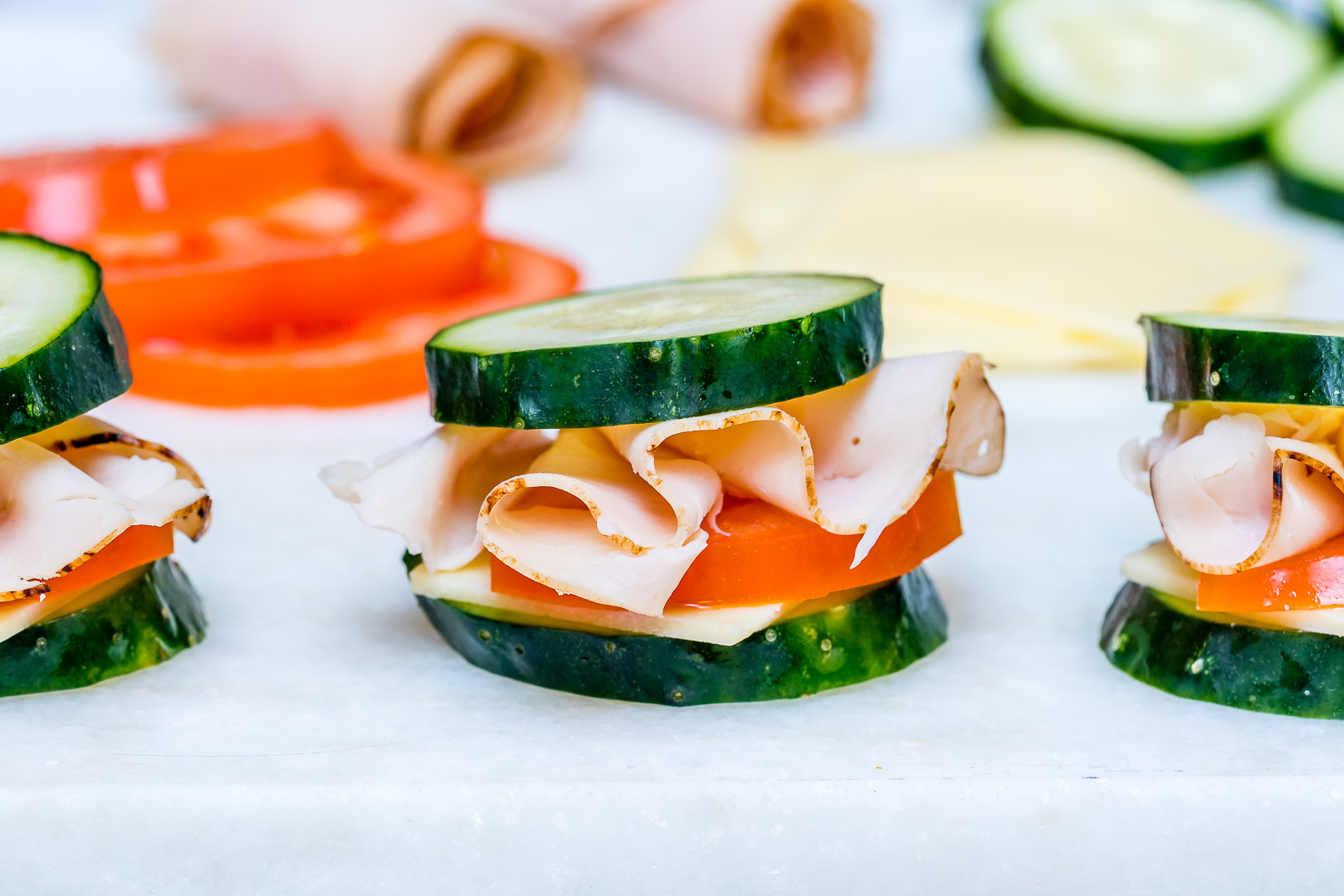 Turkey Cucumber mini Sandwich Bites Clean Recipe