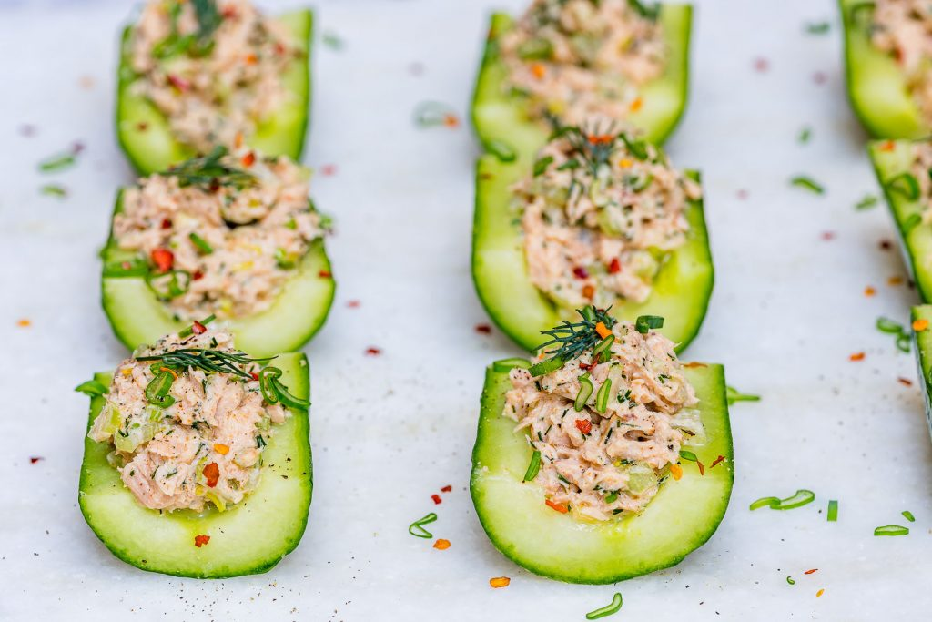 Clean Eating Wild Tuna Cucumber Boats