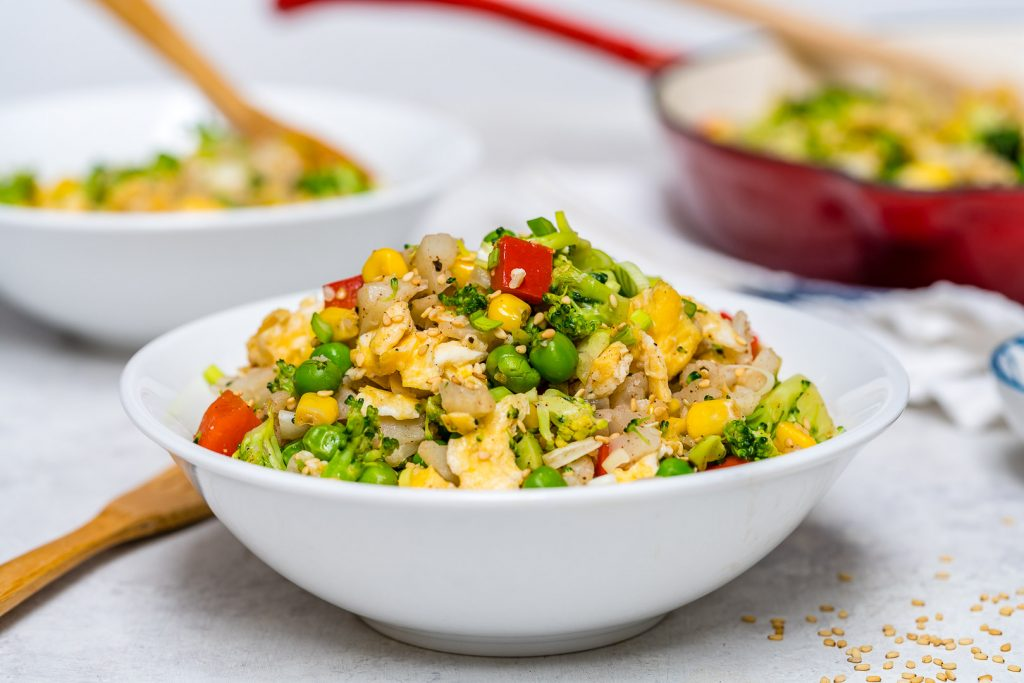 15 Min Cauliflower Fried Rice Skillet Recipe