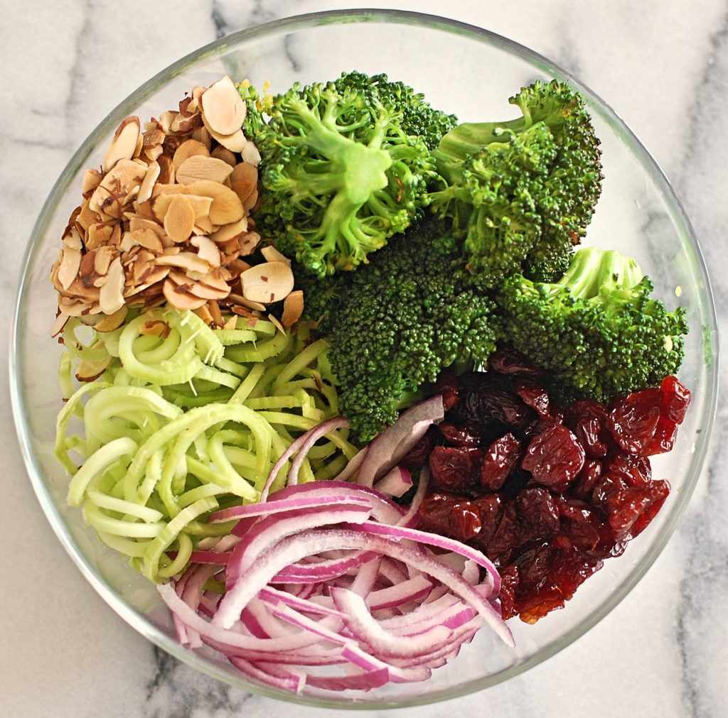 Broccoli Spirals Salad Recipe