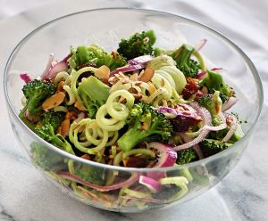 Broccoli Spirals Salad for Clean Eating
