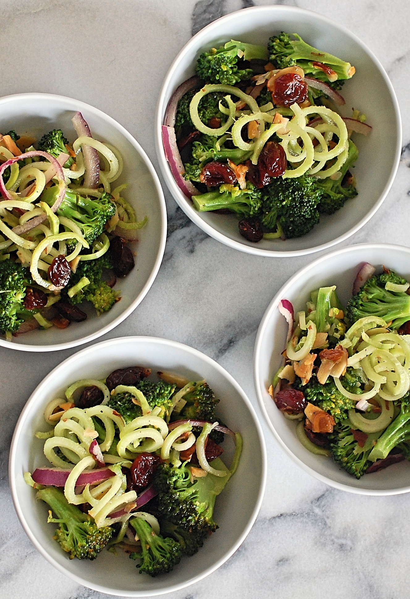 Clean Broccoli Spirals Salad