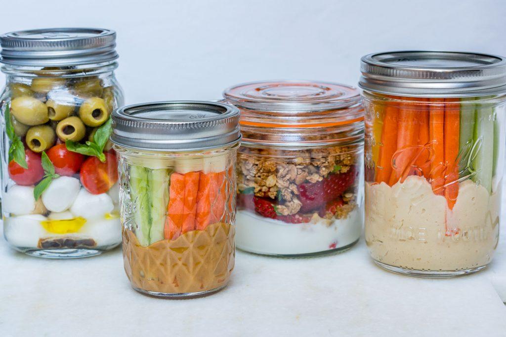 Clean Eating Mason Jar Snacks 4 Ways