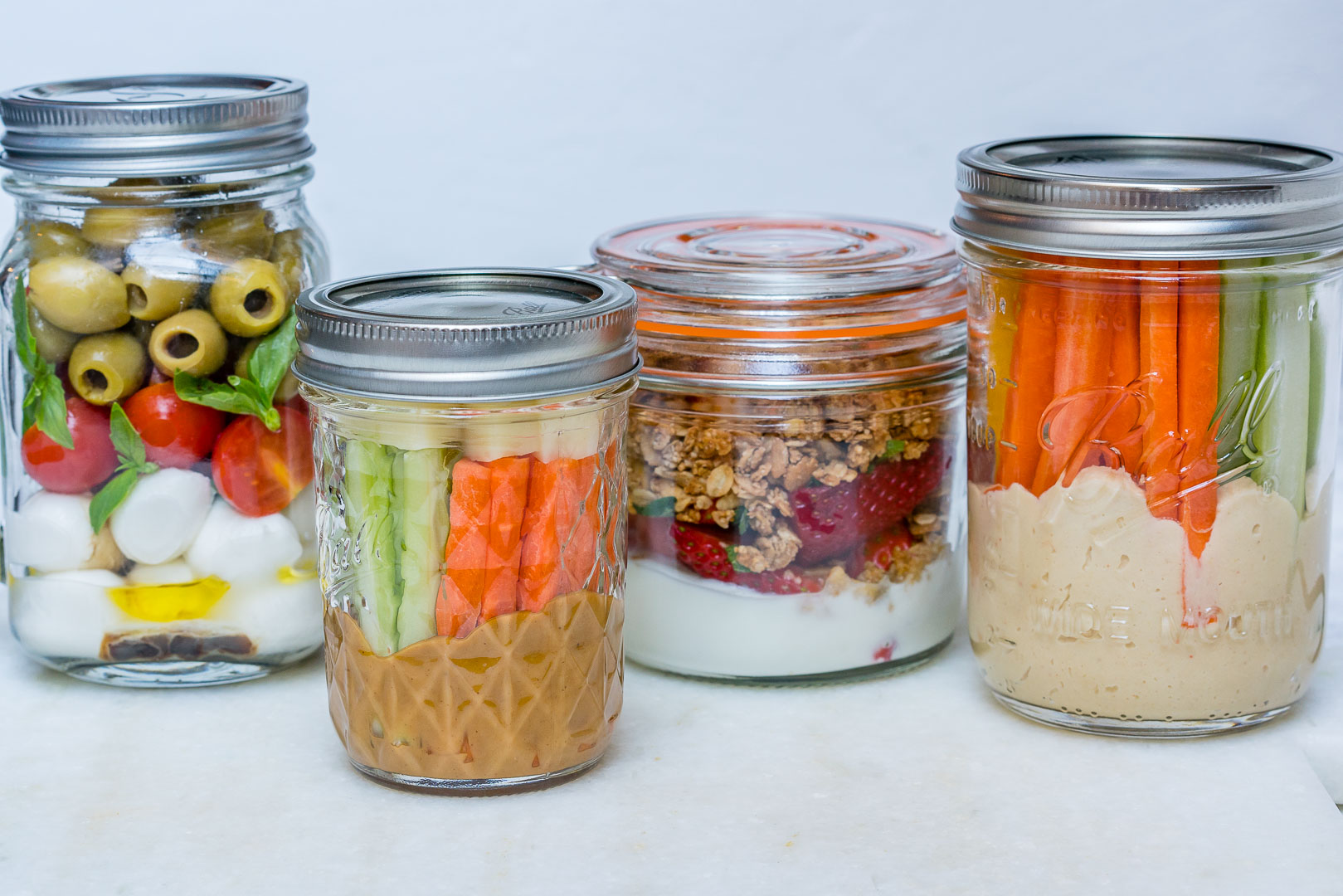 Mason Jar Snacks 4 Ways To Eat Clean Prep Ahead Clean Food Crush
