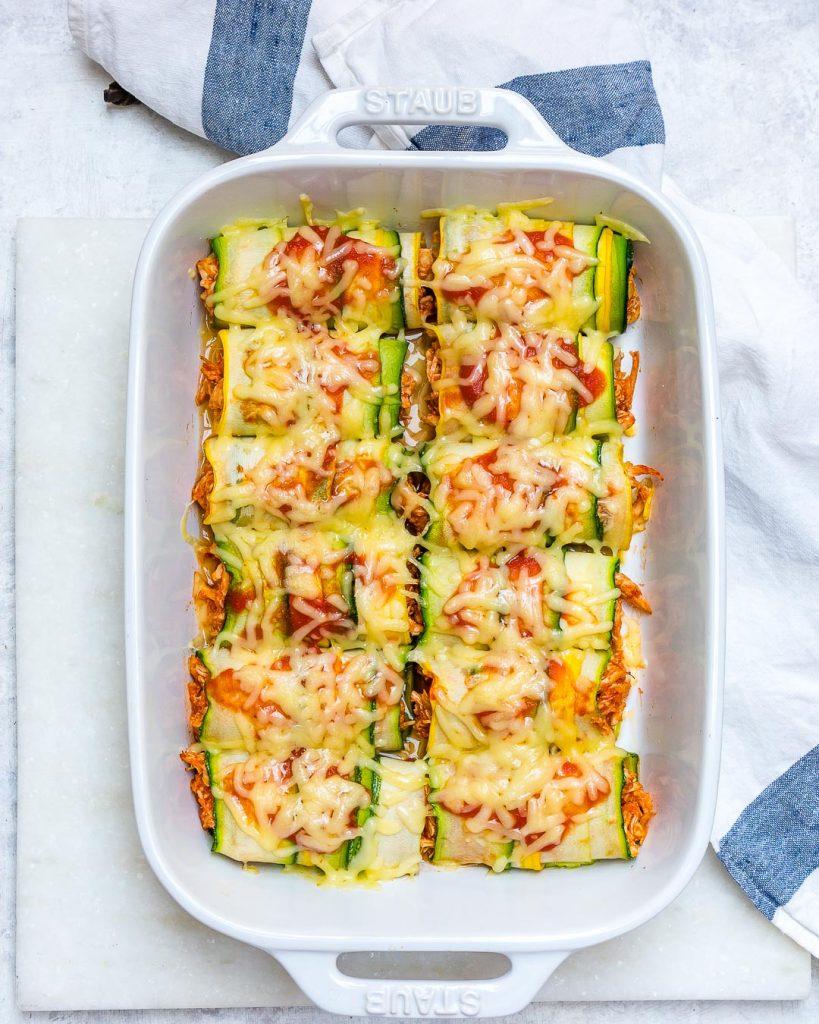 Zucchini Chicken Enchilada Healthy Dinner