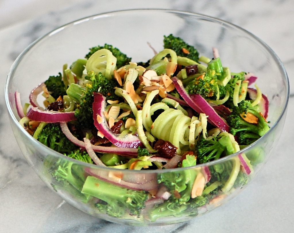 Clean Eats Broccoli Spirals Salad