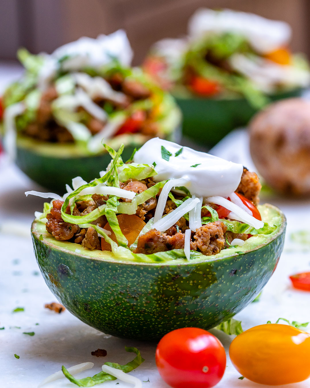 Clean Eats Turkey Taco Stuffed Avocados
