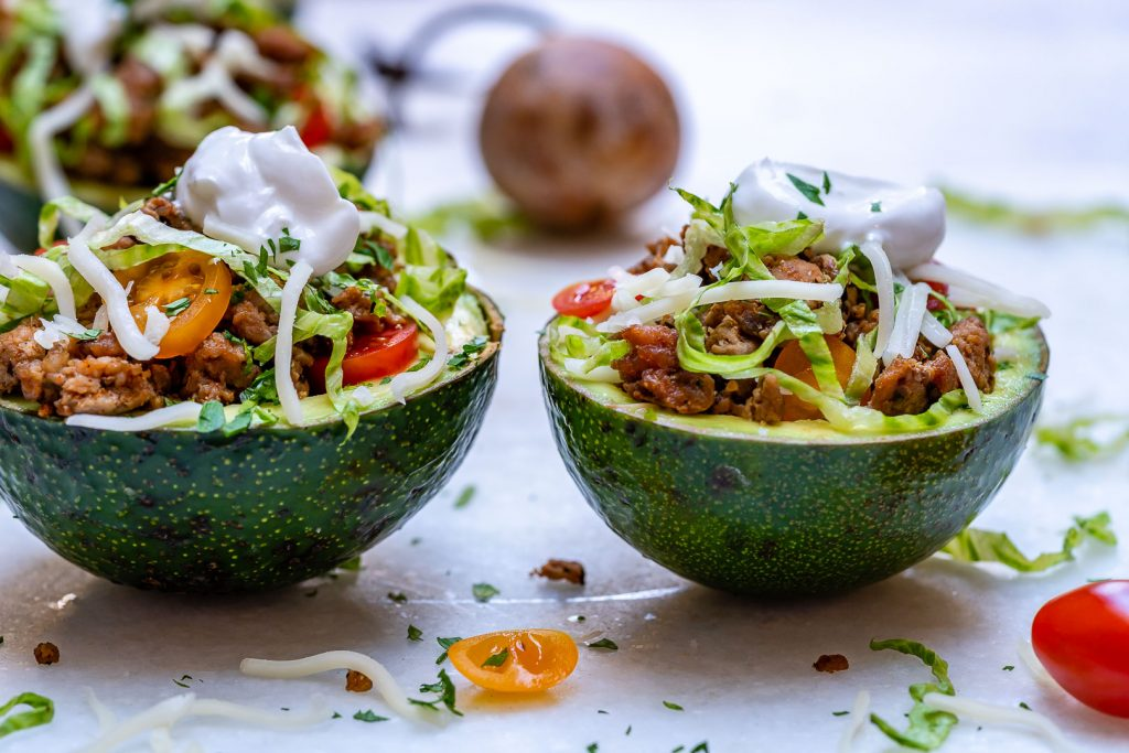 Clean Food Turkey Taco Stuffed Avocados
