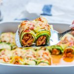 Clean Food ucchini Chicken Enchilada Roll-Ups