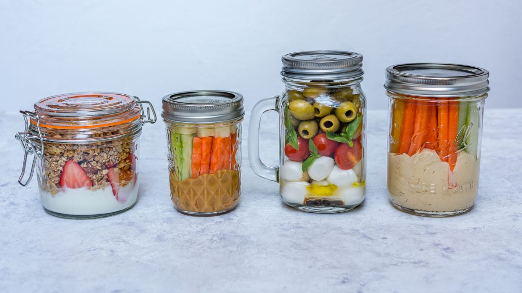 Clean Mason Jar Snacks