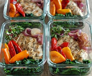 Clean Roasted Sweet Pepper Meal Prep Bowls